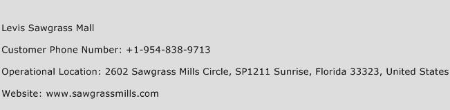 Levis Sawgrass Mall Phone Number Customer Service