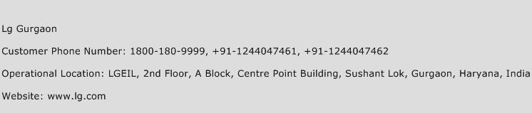 Lg Gurgaon Phone Number Customer Service