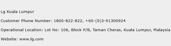 Lg Kuala Lumpur Phone Number Customer Service