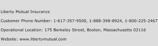 Liberty Mutual Insurance Phone Number Customer Service