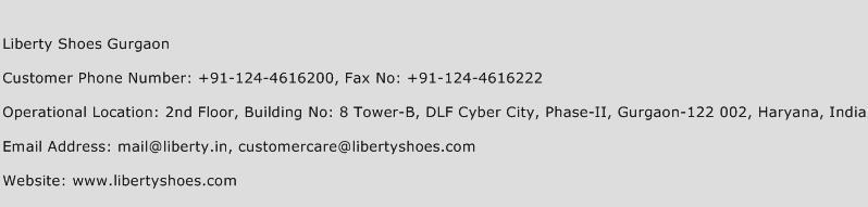 Liberty Shoes Gurgaon Phone Number Customer Service