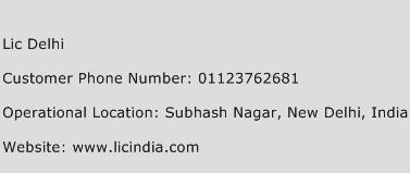Lic Delhi Phone Number Customer Service