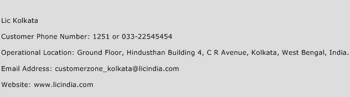 Lic Kolkata Phone Number Customer Service