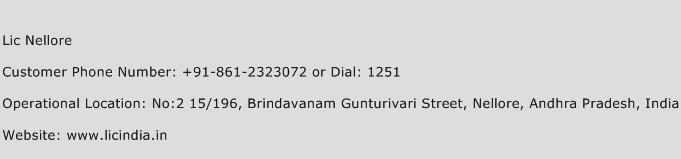 Lic Nellore Phone Number Customer Service