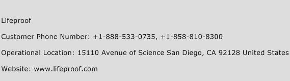 LifeProof Phone Number Customer Service