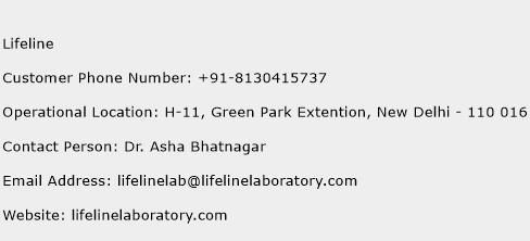Lifeline Phone Number Customer Service