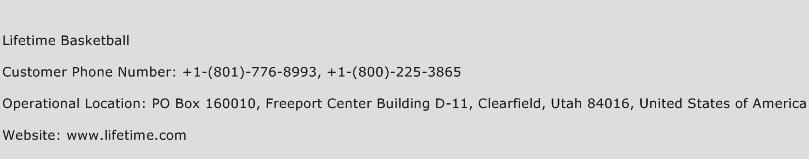Lifetime Basketball Phone Number Customer Service