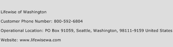 Lifewise of Washington Phone Number Customer Service