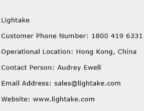 Lightake Phone Number Customer Service