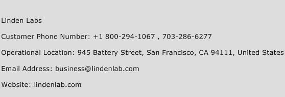 Linden Labs Phone Number Customer Service