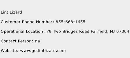Lint Lizard Phone Number Customer Service