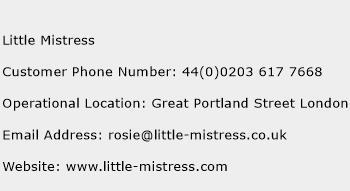 Little Mistress Phone Number Customer Service