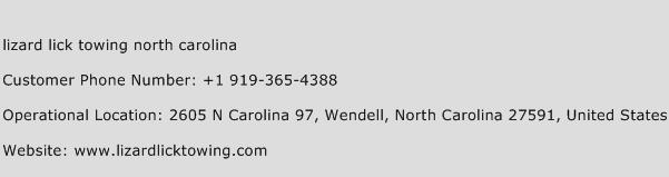 Lizard Lick Towing North Carolina Phone Number Customer Service