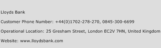 Lloyds Bank Phone Number Customer Service