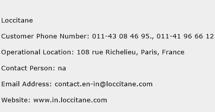 Loccitane Phone Number Customer Service