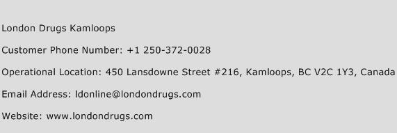 London Drugs Kamloops Phone Number Customer Service