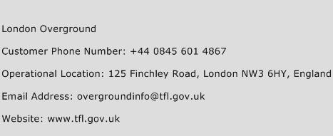 London Overground Phone Number Customer Service