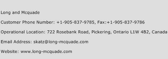 Long and Mcquade Phone Number Customer Service