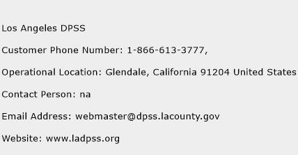 los angeles dpss phone number customer service