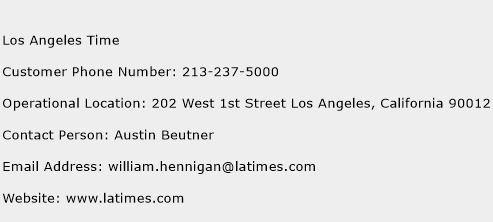 Los Angeles Time Phone Number Customer Service