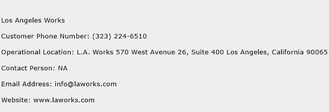 Los Angeles Works Phone Number Customer Service