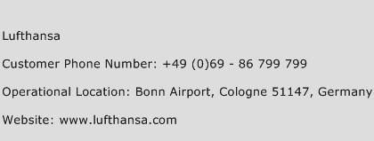 Lufthansa Phone Number Customer Service