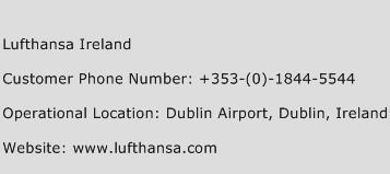 Lufthansa Ireland Phone Number Customer Service