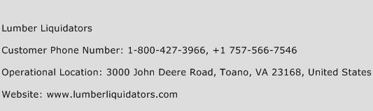 Lumber Liquidators Phone Number Customer Service