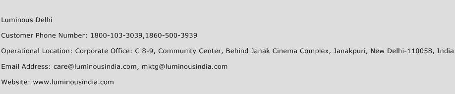 Luminous Delhi Phone Number Customer Service