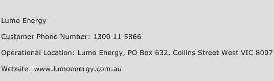 Lumo Energy Phone Number Customer Service