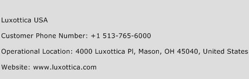 Luxottica USA Phone Number Customer Service