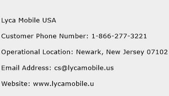 Lyca Mobile USA Phone Number Customer Service