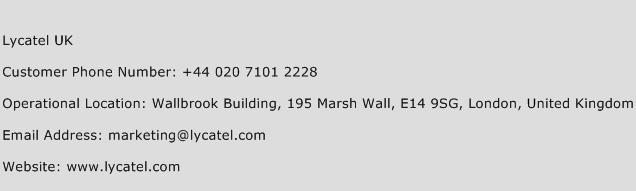 Lycatel UK Phone Number Customer Service