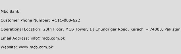 MBC Bank Phone Number Customer Service