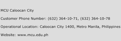 MCU Caloocan City Phone Number Customer Service