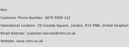 MINI Phone Number Customer Service