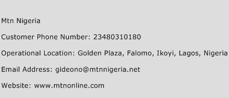 MTN Nigeria Phone Number Customer Service