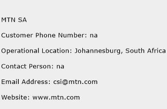 MTN SA Phone Number Customer Service