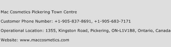 Mac Cosmetics Pickering Town Centre Phone Number Customer Service