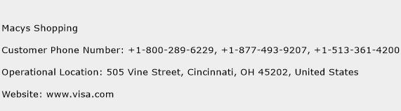 Macys Shopping Phone Number Customer Service