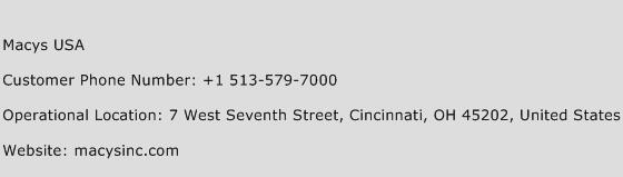 Macys USA Phone Number Customer Service