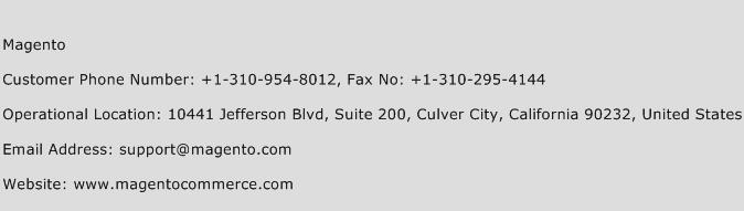 Magento Phone Number Customer Service