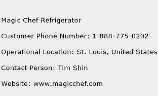 Magic Chef Refrigerator Phone Number Customer Service