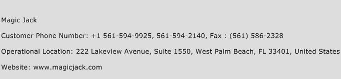 magic jack customer service number
