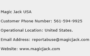 Magic Jack USA Phone Number Customer Service