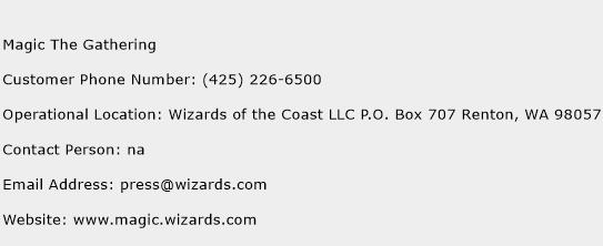 Magic The Gathering Phone Number Customer Service