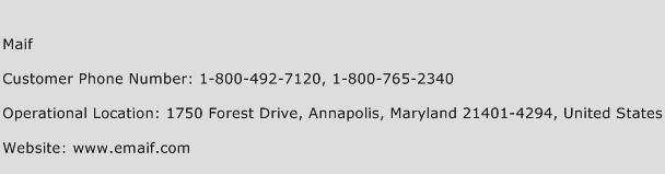 Maif Phone Number Customer Service