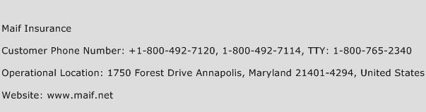 Maif Insurance Phone Number Customer Service