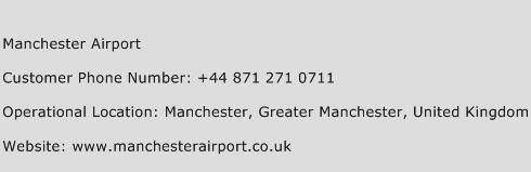 Manchester Airport Phone Number Customer Service