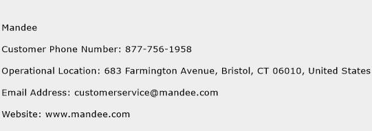 Mandee Phone Number Customer Service